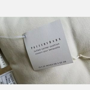 Pottery Barn Other - NEW Pottery Barn Tan Tufted Corner Bench Cushion